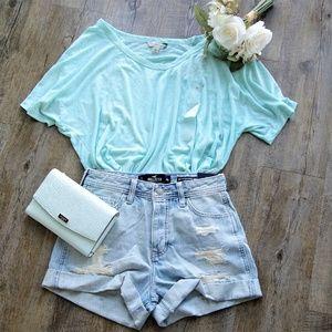 NWT Calvin Klein Jeans Soft Short Sleeve Aqua Tee